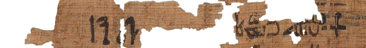 the Turin king list 6.16 (photo of the hieratic text)