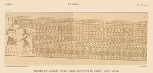 Abydos King list 1869 (Source: Mariette 1869, plate 43)
