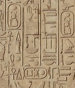 The hieroglyphs
