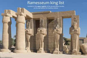 Location of the Ramesseum king list - press ENTER for full image