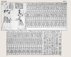 Abydos king list 1869 - press ENTER for full image