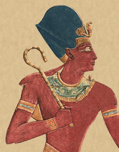 picture of Drawing of Seti I<br> from the mortuary Temple